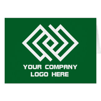 Your Company Logo Note Card Green W