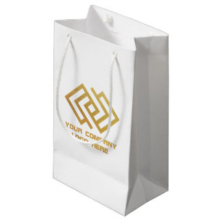 Your Company Logo Party Gift Bag Small W