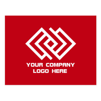 Your Company Logo Postcard Red