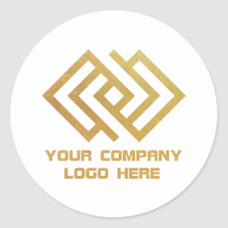 Your Company Logo Stickers White