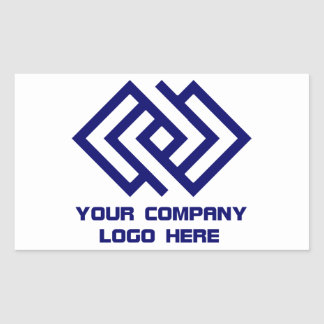 Your Company Logo Stickers White Rt