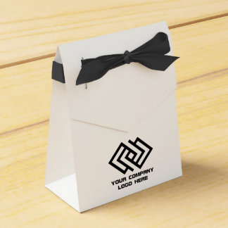 Your Company Logo Tent Favor Box