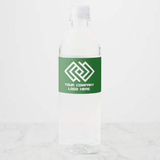 Your Company Logo Water Labels Green