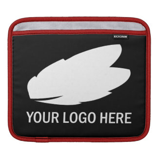 Your company logo white on black promotional iPad sleeve