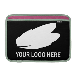 Your company logo white on black promotional MacBook air sleeve