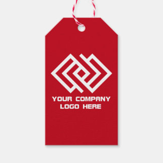 Your Company Party Logo Gift Tags Red Pack Of Gift Tags