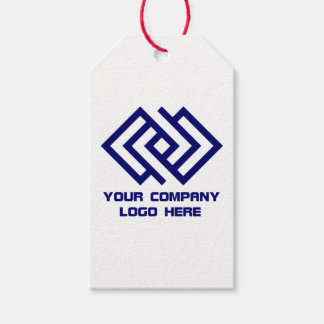 Your Company Party Logo Gift Tags White