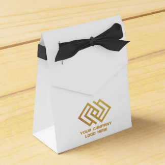 Your Company Party Logo Tent Favor Box WB