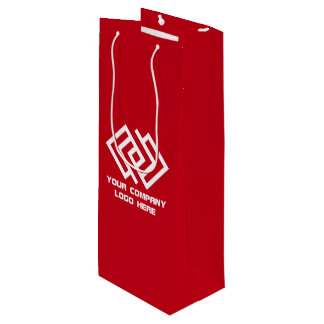 Your Company Party Logo Wine Gift Bag Red