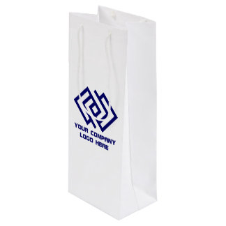 Your Company Party Logo Wine Gift Bag W