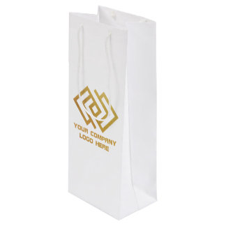 Your Company Party Logo Wine Gift Bag White
