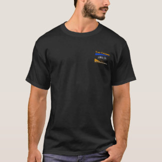 Your Company Silver Car Black t-shirt