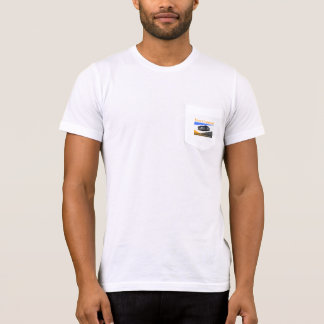 Your Company Silver Car White Pocket t-shirt