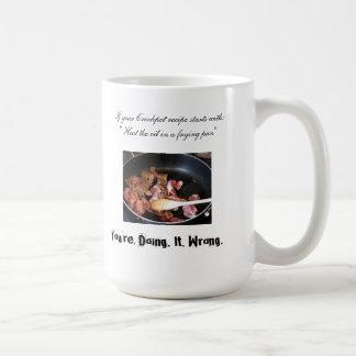 Your Crockpot Recipe is Wrong Basic White Mug