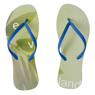 Your Custom Adult, Slim Straps, Womens 10 - Mens 9 Flip Flops