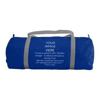Your Custom Duffle Gym Bag, Regatta Blue with Silv