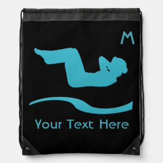 Your Custom Gym Workout Girl  Drawstring Backpack