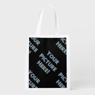 Your Custom Image on Reusable Grocery Bag