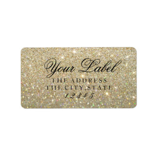 Your Custom Label - Gold Glit Fab