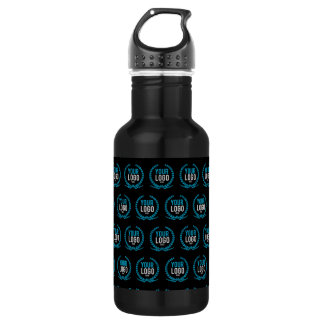Your Custom Logo   Image All Over Patterned 532 Ml Water Bottle