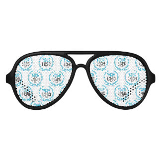 Your Custom Logo   Image All Over Patterned Aviator Sunglasses