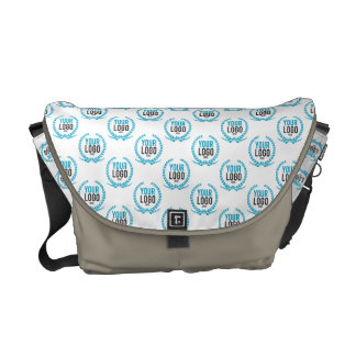 Your Custom Logo   Image All Over Patterned Commuter Bags