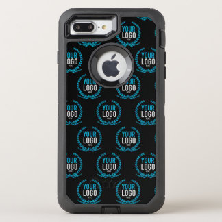 Your Custom Logo   Image All Over Patterned OtterBox Defender iPhone 8 Plus/7 Plus Case