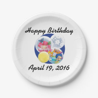 """Your Custom Paper Plates 7"""" 7 Inch Paper Plate"""