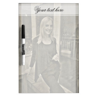 Your custom photo and text dry erase board