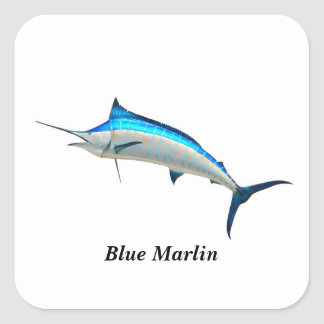 Your Custom Square Stickers Blue Marlin