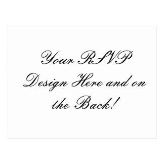 Your Design Here! Custom Wedding RSVP Card Postcard