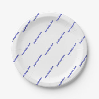 Your Design Here Paper Plate