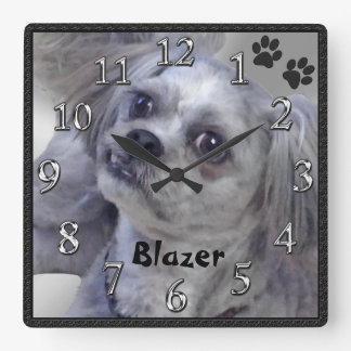 Your Doggy PHOTO and NAME Personalized Clock