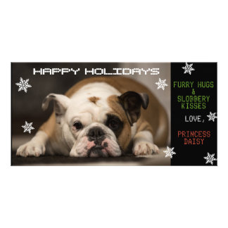 Your Dog's Christmas Customized Photo Card