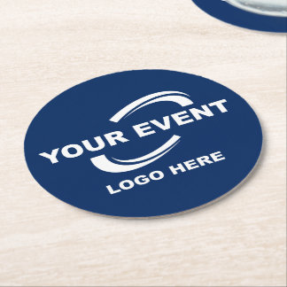 Your Event Logo Coasters Round - Choose Colour
