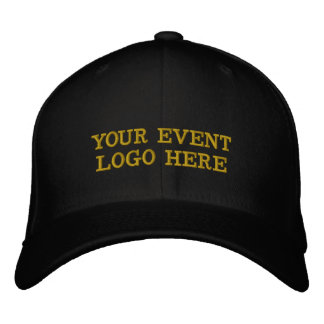 Your Event Logo Hat Black and Gold or choose color