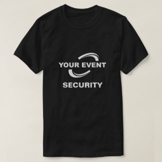 Your Event Logo Security T-Shirt Black