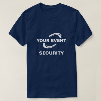 Your Event Logo Security T-Shirt Blue