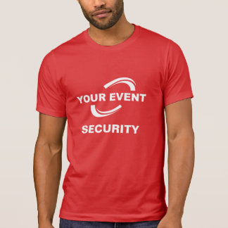 Your Event Logo Security T-Shirt Red