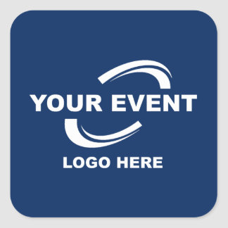 Your Event Logo Stickers - Choose Color S