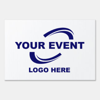 Your Event Logo Yard Sign Large