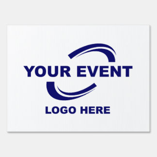 Your Event Logo Yard Sign Medium