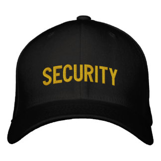 Your Event Security Hat Black & Gold