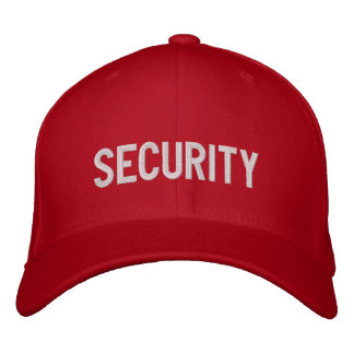 Your Event Security Hat Red Embroidered Hat