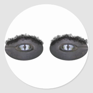Your eyes are like pools... classic round sticker