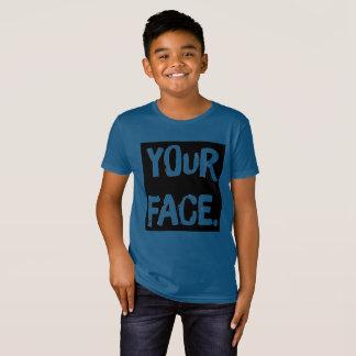 """""""Your Face."""" Funny Boys A.A. Organic Cotton Tee"""