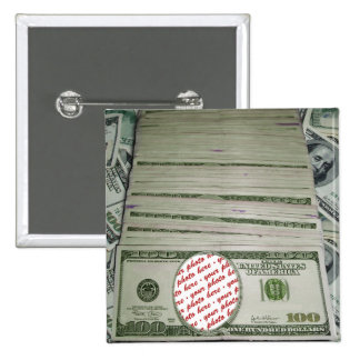 Your Face on the $100 Bill! Add-A-Photo 2 Inch Square Button