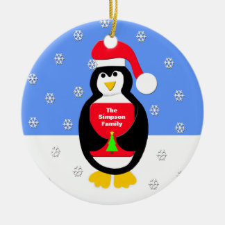 Your Family Christmas Ornament -- Penguin