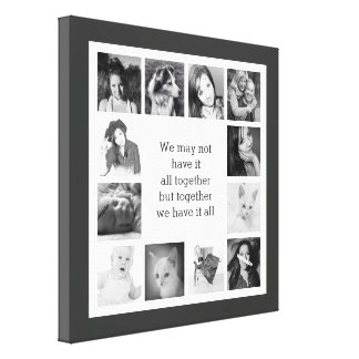 Your Family Memories Custom Photo Collage Canvas Print