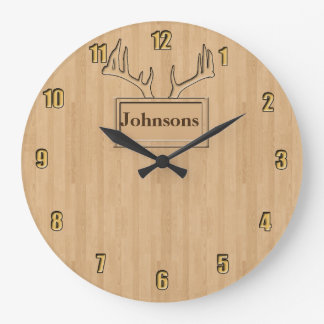 Your family name personalized large clock